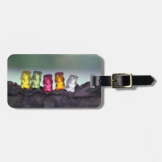 Colourful Diversity Gummy Bears Photography Luggage Tag