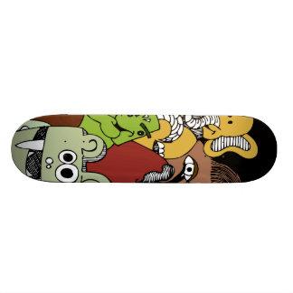 colourful doodle skateboard