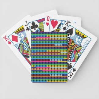 Colourful dots bicycle playing cards