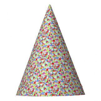 Colourful dots party hat