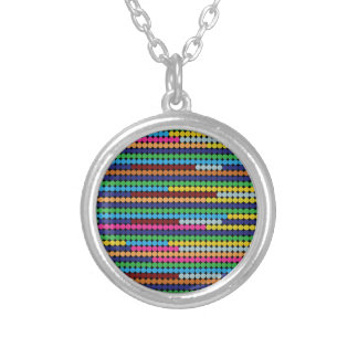 Colourful dots silver plated necklace