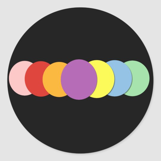 Colourful Dots Stickers