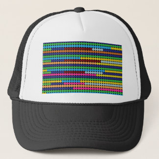 Colourful dots trucker hat