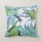 Colourful Dragonfly Abstract Decorator Pillow