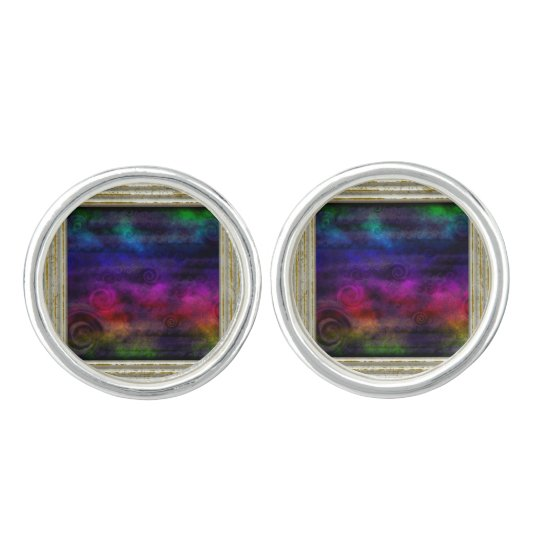 Colourful Dreamy Abstract Cufflinks