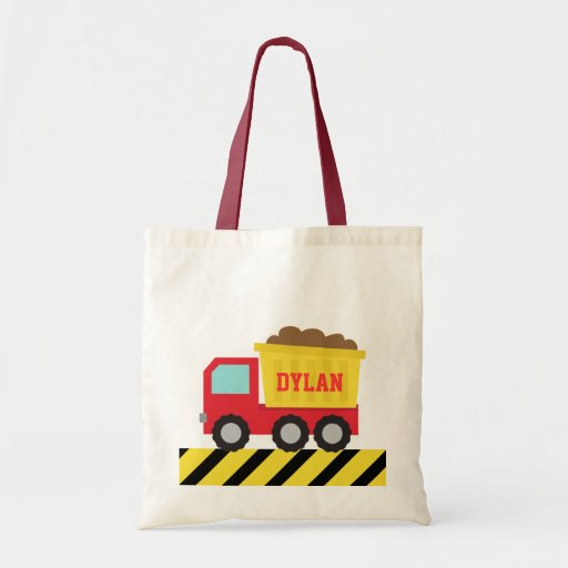 Colourful Dump Truck, Construction Vehicle for Boy Tote Bags