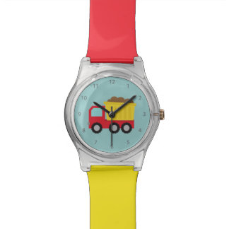 Colourful Dump Truck, Construction Vehicle for Boy Wrist Watches