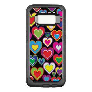 Colourful Dynamic Rainbow Hearts in Hearts Pattern OtterBox Commuter Samsung Galaxy S8 Case