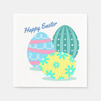 Colourful Easter Egg Party Napkins Disposable Napkins