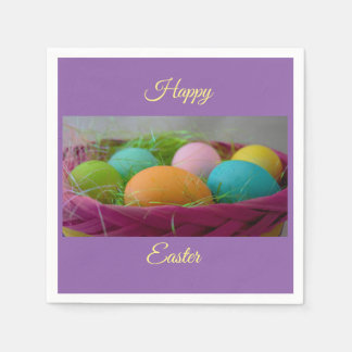 Colourful Easter Eggs Paper Napkin