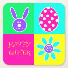 Colourful Easter Square Paper Coaster