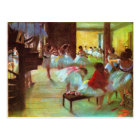 Colourful Edgar Degas Ballerina Fine Art Postcard