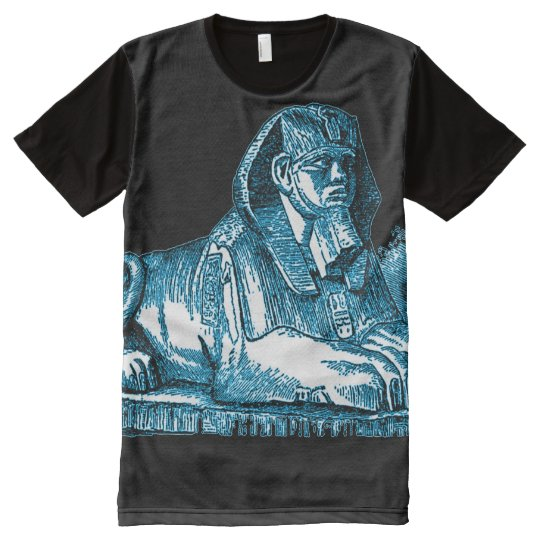 Colourful Egyptian Blue Sphinx All-Over-Print T-Shirt