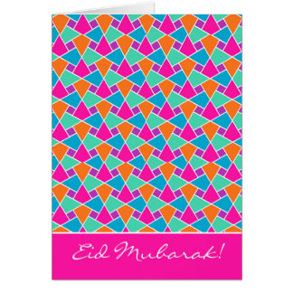 Colourful Eid Card, Bright Islamic Pattern Card