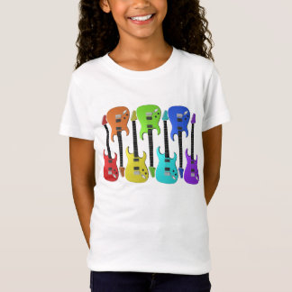 Colourful Electric Guitars Girls T-Shirt