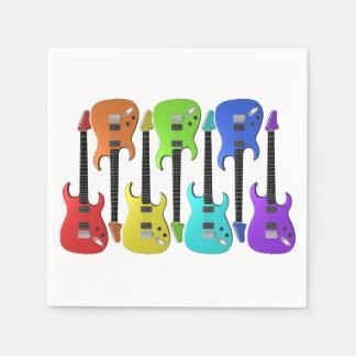 Colourful Electric Guitars Paper Napkins