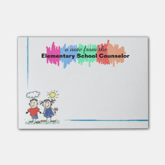 Colourful Elementary School Counsellor Sticky Post-it® Notes