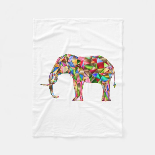 Colourful elephant fleece blanket