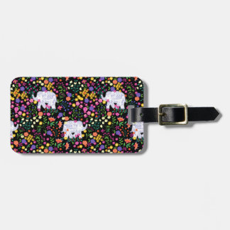Colourful elephant floral Indian inspired design Luggage Tag