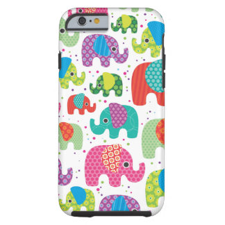 Colourful elephant kids pattern iPhone 6 case Tough iPhone 6 Case