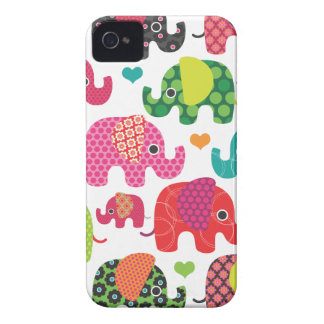Colourful elephant kids pattern iphone case iPhone 4 covers