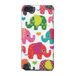 Colourful elephant kids pattern ipod case