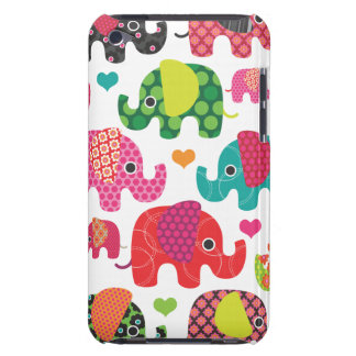 Colourful elephant kids pattern ipod case Case-Mate iPod touch case