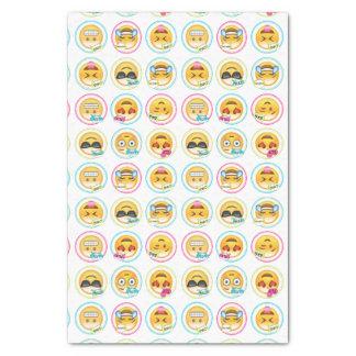 Colourful Emoji Tissue Paper