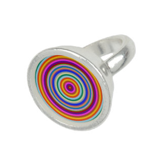 Colourful energy chakra rainbow art photo rings
