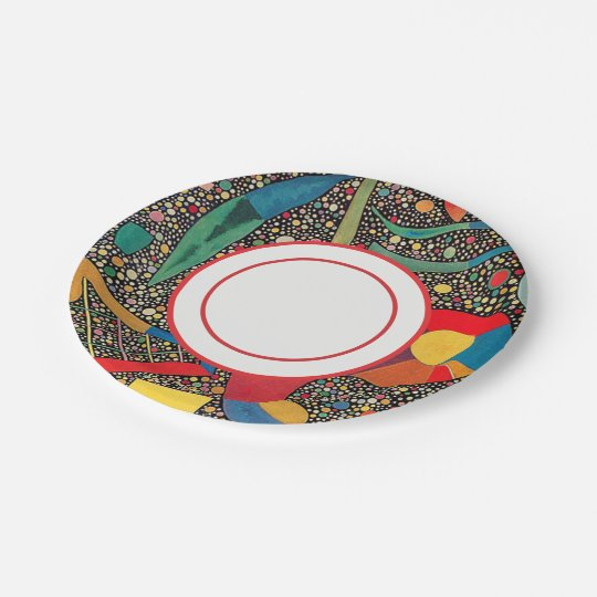 Colourful Ensemble by Wassily Kandinsky Paper Plate