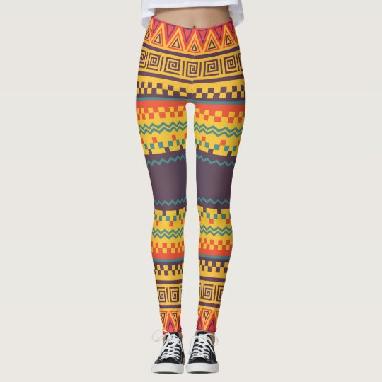 Colourful ethnic Pattern Leggings