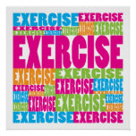 Colourful Exercise Poster