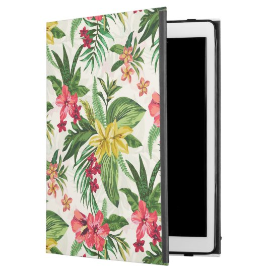 "Colourful Exotic Hibiscus Pattern iPad Pro 12.9"" Case"