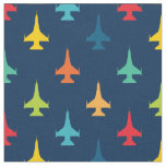 Colourful F-16 Viper Fighter Jet Pattern Primaries Fabric