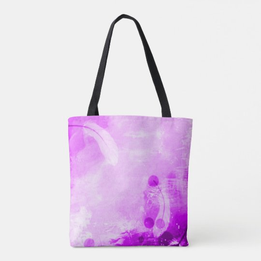 Colourful Faded Purple Angel Feathers Airbrush Art Tote Bag