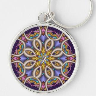 Colourful fantasy flower keychain