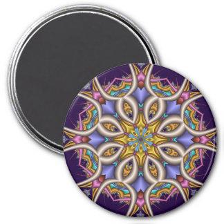Colourful fantasy flower magnet