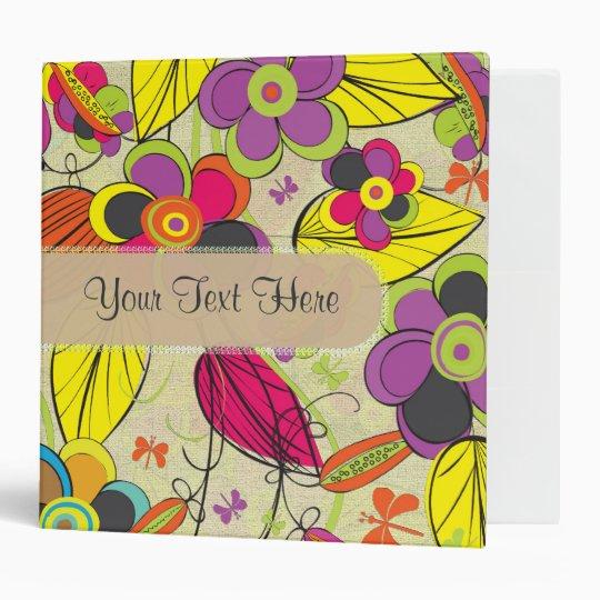 Colourful Fashion Floral Design Binder
