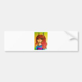 Colourful fauna bumper sticker