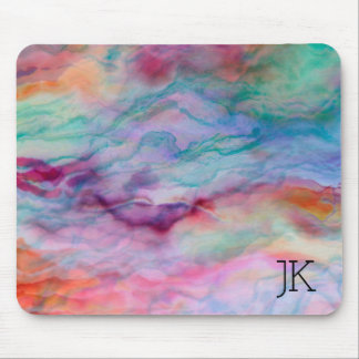 Colourful Faux Agate Stone Mouse Pad