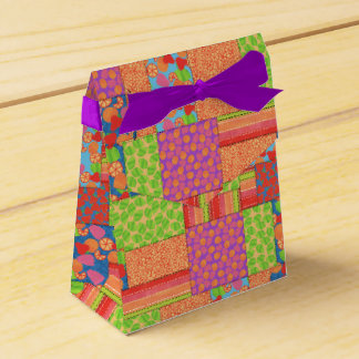Colourful Faux Patchwork of Summer Fruits Patterns Favor Box