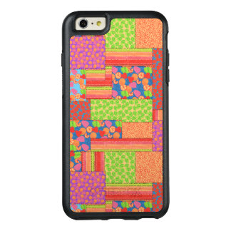 Colourful Faux Patchwork of Summer Fruits Patterns OtterBox iPhone 6/6s Plus Case