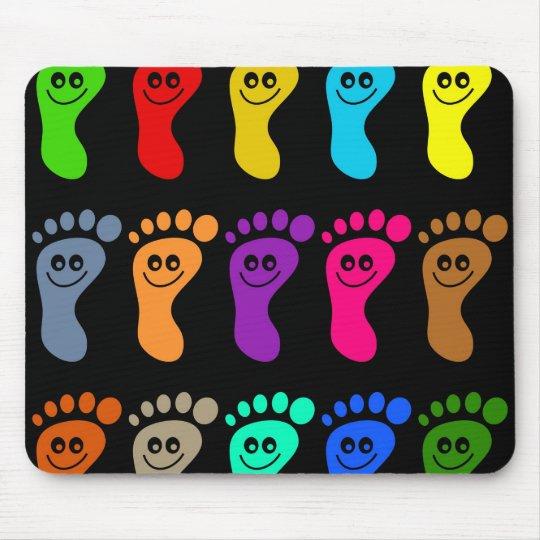 Colourful Feet Mouse Pad