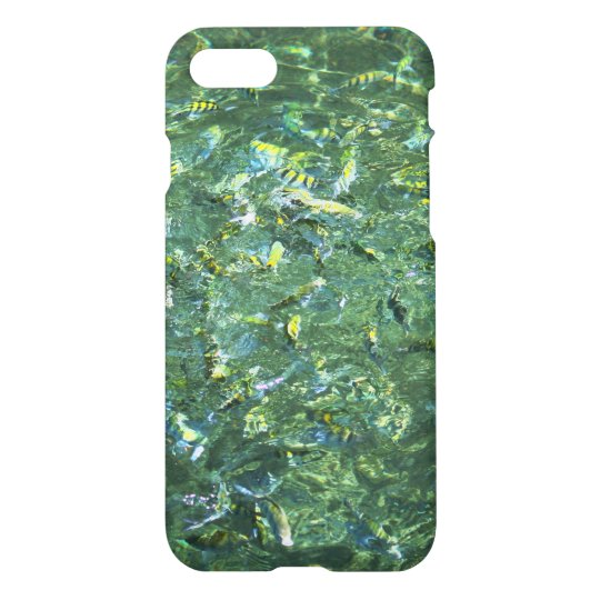 Colourful fish in clear water in Saint Lucia iPhone 8/7 Case