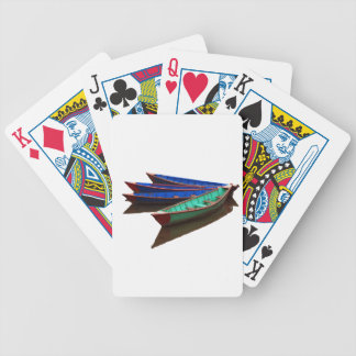 Colourful Fishing Boats Bicycle Playing Cards