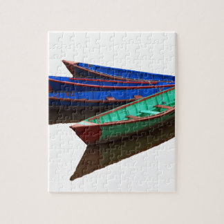 Colourful Fishing Boats Jigsaw Puzzle
