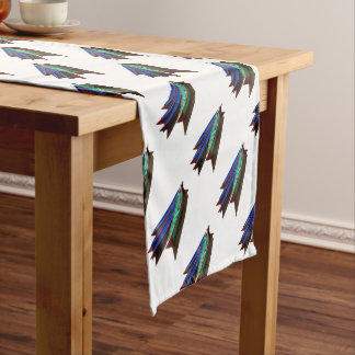 Colourful Fishing Boats Short Table Runner