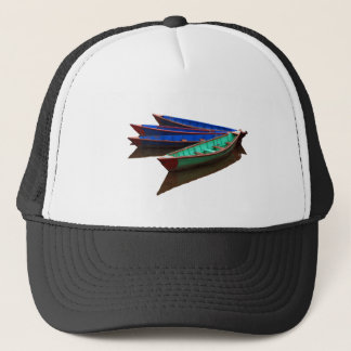 Colourful Fishing Boats Trucker Hat