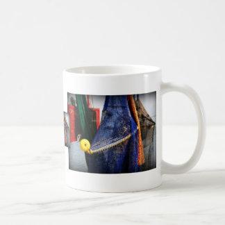 Colourful fishing nets, vignetted, Florida scene Mug