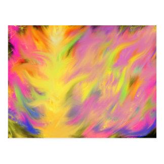 Colourful Flames Christian Worship Art Postcard